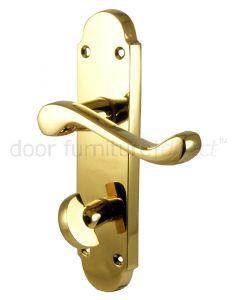 PVD None Tarnish Brass Oakley Bathroom Door Handles