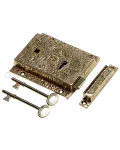 Antique Style Brass Rim Lock 1204