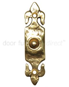 Antique Style Brass Bell Push 1761