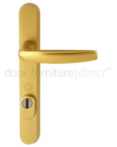 Hoppe Atlanta Gold Security Door Handle 92mm Centres