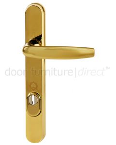Hoppe Atlanta Polished Brass Security Door Handle 92mm Centres