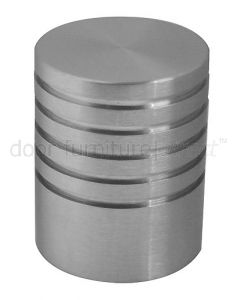 Satin Stainless Steel Cylinder Cabinet Knob