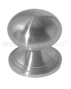 Grade 304 Satin Stainless Steel Round Cabinet Knob