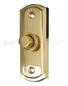 Sloane Polished Brass Bell Push 81x31mm
