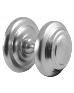 Sloane Satin Chrome Centre Door Knob 102mm