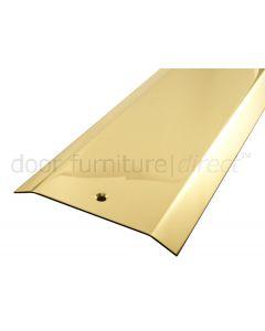 Polished Brass Threshold Cover Strip 2 Bevel Edges