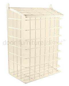White Plastic Coated Wire Letter Cage