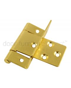 Cranked Hinges Electro Brassed in Pairs