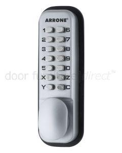 Arrone Digital Lock with Holdback Matt Chrome