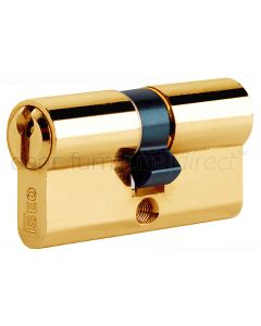 Iseo Brass Euro Profile Double Key Door Cylinder