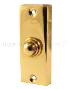 Polished Brass Profile Bell Push 76x30mm