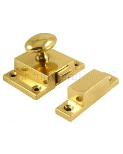 Brass Oval Knob Cupboard Catch 57x41mm