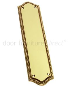 Polished Brass Georgian Shaped Finger Plate 305x73mm
