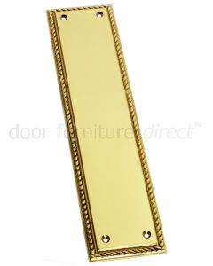 Polished Brass Georgian Finger Plate 305x73mm