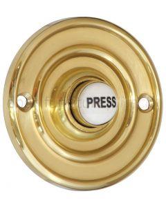 Brass Circular Bell Push with China Press 60mm