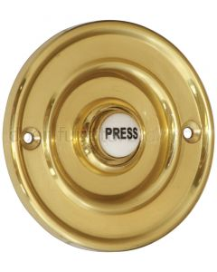Brass Circular Bell Push with China Press 76mm