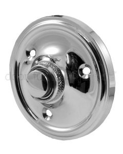 Polished Chrome Circular Bell Push 60mm