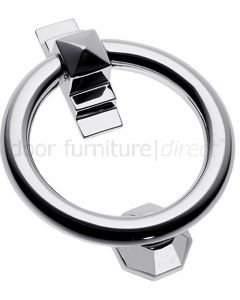 Polished Chrome Ring Door Knocker 105mm