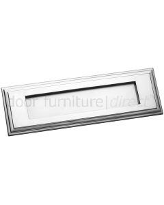 Satin Chrome Horizontal Edwardian Letter Plate 282x89mm
