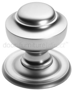 Satin Chrome Tiered Centre Door Knob 76mm