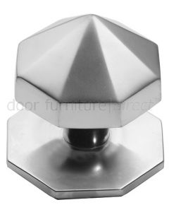 Satin Chrome Carousel Centre Door Knob 67mm