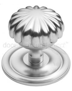 Satin Chrome Peel Centre Door Knob 83mm