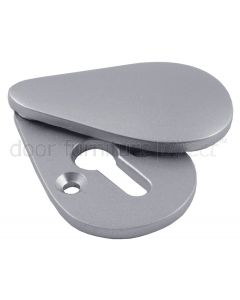 Satin Chrome Pear Drop Covered Escutcheon 44x25mm