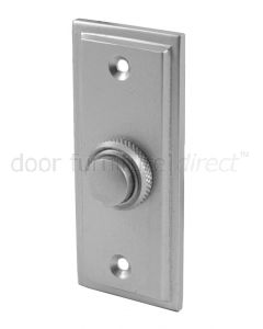 Satin Chrome Stepped Edge Bell Push 76x32mm