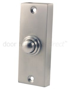 Satin Chrome Profile Bell Push 79x30mm