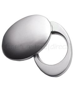 Satin Chrome Victorian Cover For Rim Cylinder