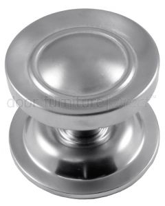 Satin Chrome Victorian Centre Door Knob 83mm