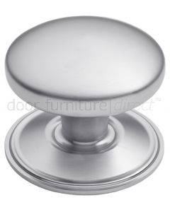 Satin Chrome Dome Centre Door Knob 82mm