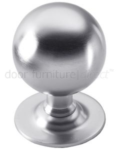Satin Chrome Ball Centre Door Knob 64mm
