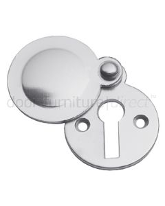 Satin Chrome Tudor Covered Escutcheon 41x32mm