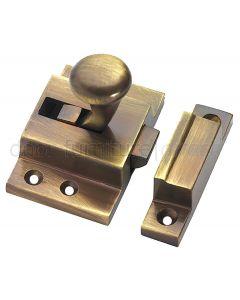 Antique Brass Fanlight Catch 57x38mm