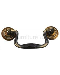 Antique Brass Swan Neck Handle 89mm