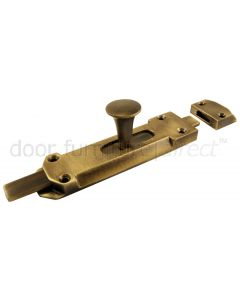 Antique Brass Victorian Door Bolt 114x32mm