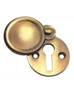 Antique Brass Covered Escutcheon 32mm