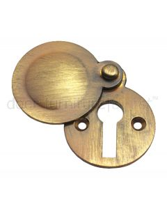 Antique Brass Tudor Covered Escutcheon 32mm