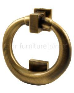 Antique Brass Ring Door Knocker 114mm