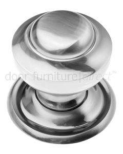 Pewter Finish Tiered Centre Door Knob 76mm