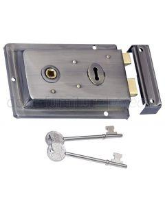 Pewter Finish Rim Lock 155x105mm