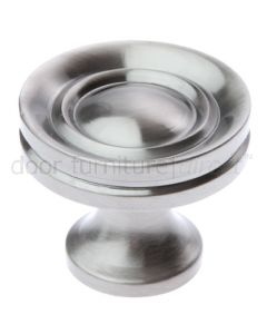 Pewter Finish Stepped Cupboard Knob