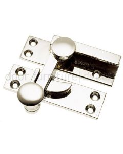 Polished Nickel Quadrant Sash Window Fastener 67mm