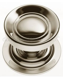Polished Nickel Victorian Centre Door Knob 83mm