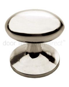 Polished Nickel Oval Cupboard Knob