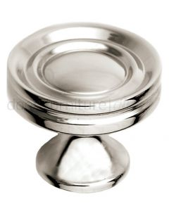 Polished Nickel Stepped Cupboard Knob