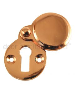 Rose Copper Heavy Covered Escutcheon 41x32mm
