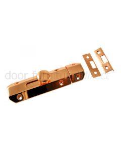 Rose Copper Flat Door Bolt 102x36mm
