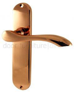 Rose Copper Cadenza Latch Door Handles